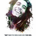 "Legendary Robert Nesta ""Bob"" Marley and his quote."
