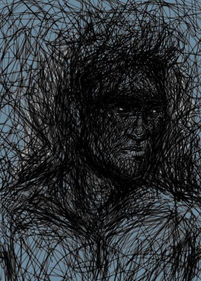 Mod Artisto Pencilportrait   Displate Prints on Steel