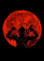 red sun japan japanese kirito asuna sword art online sao anime manga crimson blood moon circle space full nature swords swordsman strong gaming gamer games cool warrior dual