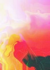 digital glitch abstract