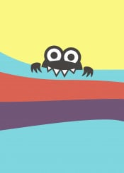 cute bug character creature cartoon kawaii bite biting bites eat eating eats colorful creatures characters bugs vector fun