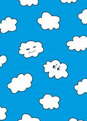 cloud clouds blue sky fun funny cartoon character vector characters drool sleep smile smiling drooling sleeping humor