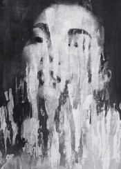 dark surreal surrealism monochrome black white abstract portrait model