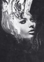 dark abstract surreal surrealism monochrome black white portrait model