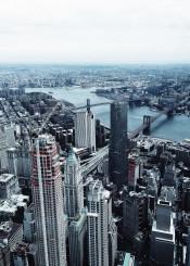 newyork nyc manhattan brooklyn fog sky ckycraper river buildings dream