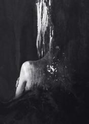 dark surreal surrealism abstract monochrome black white portrait
