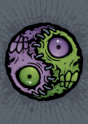 stitches corpse halloween symbol horror spooky zombie yin yang monster evil dead