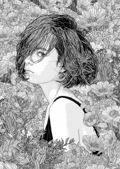 illustration nature flowers lineart linedrawing sketch