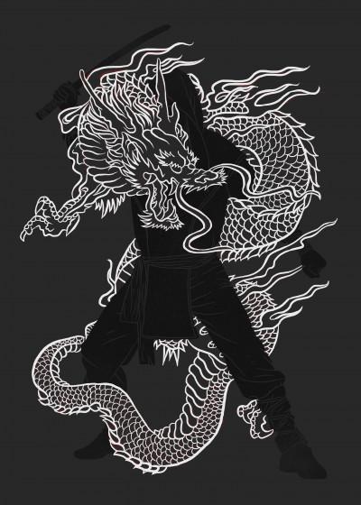Erik Sandi Satresa Illustration   Displate Prints on Steel