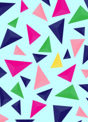 geometric pattern color colorful background decoration triangle