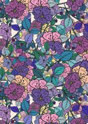 flower floral flowers pattern purple teal pink elegant feminine calm relax relaxing zen nature