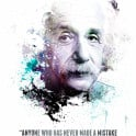 Albert Einstein and his quote.