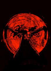 hellsing hell sing demon anime manga fanfreak fa art glow death kill gun moon sun stromg red ink inking guns ultimate alucard rock roll and killer vamp vampire strong fan