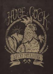 cock hen funny retro vintage