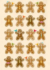 cute ginger cookie cookies gingerbread gingerbreadman bird illustration animal children fun winter holidays christmas