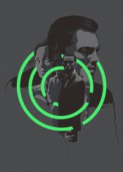 inception leonardo dicaprio poster movie gray green comic glitch nolan scifi
