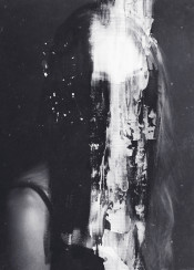 dark surreal surrealism black white abstract portrait monochrome acrylics norberg bjorn