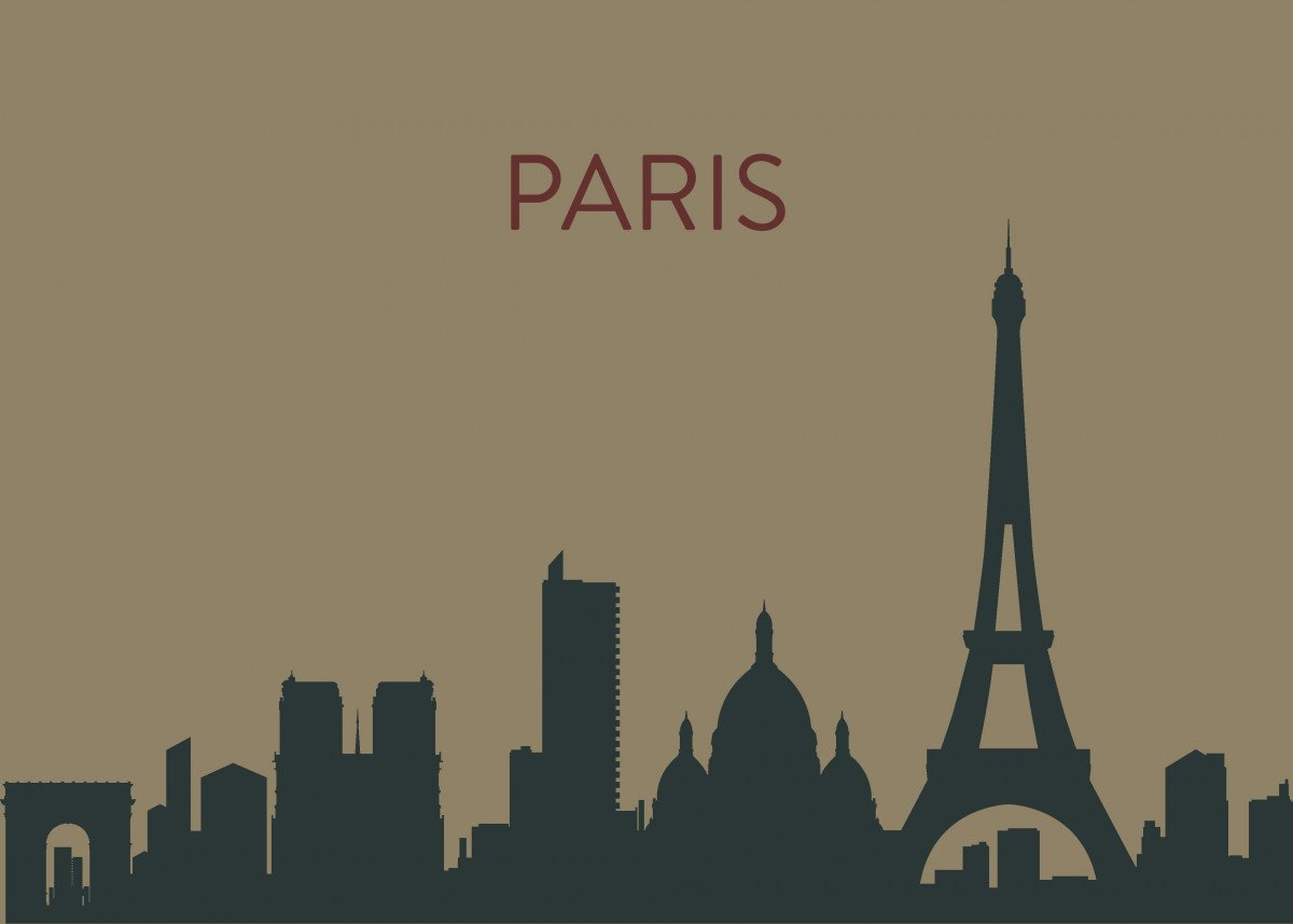 A minimal landscape poster of London's amazing skyline. These are insp