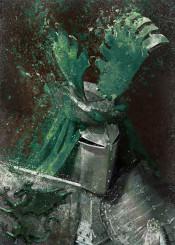 green knight medieval warrior dragon armor metal sir legends arthurian fight classic helmet textured