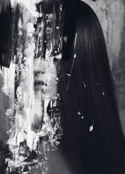 dark surreal abstract black white portrait monochrome acrylics norberg bjorn