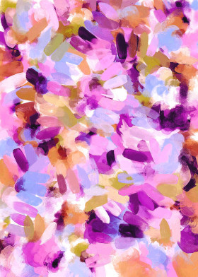 paint brush brushes brushstroke purple orange lavender texture abstract contemporary pretty girly cute