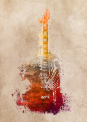 music instrument instruments guitar guitarist red art