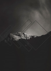 minimalism landscape mountain monochrome light graphics dark sky