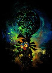 zelda link majorasmask majora moon videogames gaming games skullkid art space donnie