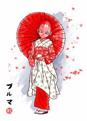 manga anime girl geisha japan kanji white dragon art ball