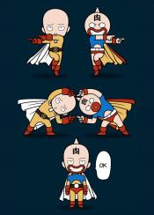 one punch kiniku man hero superhero fusion dragon manga anime ball