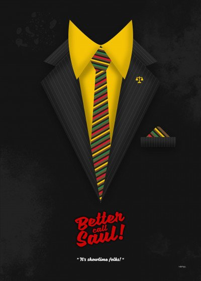 HDMI 2K Better Call Saul Suits   Displate Prints on Steel