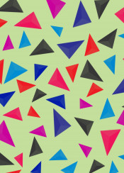 3d geometric color colorful abstract shape pastel graphic polygonal minimal