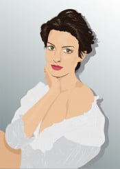 hollywood woman vector digital art style portrait popart movies singer actress moviestar fashion