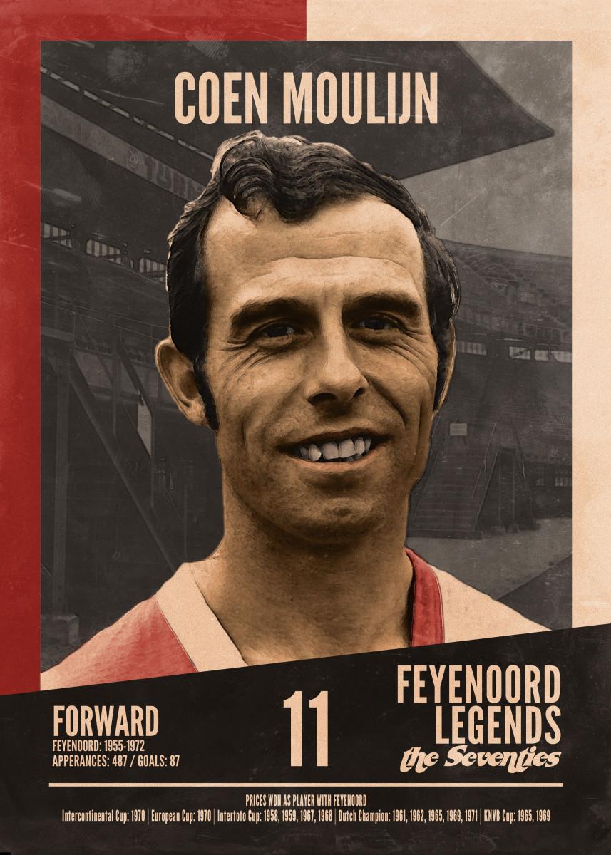 - Feyenoord Legends of The Seventies Coen Moulijn