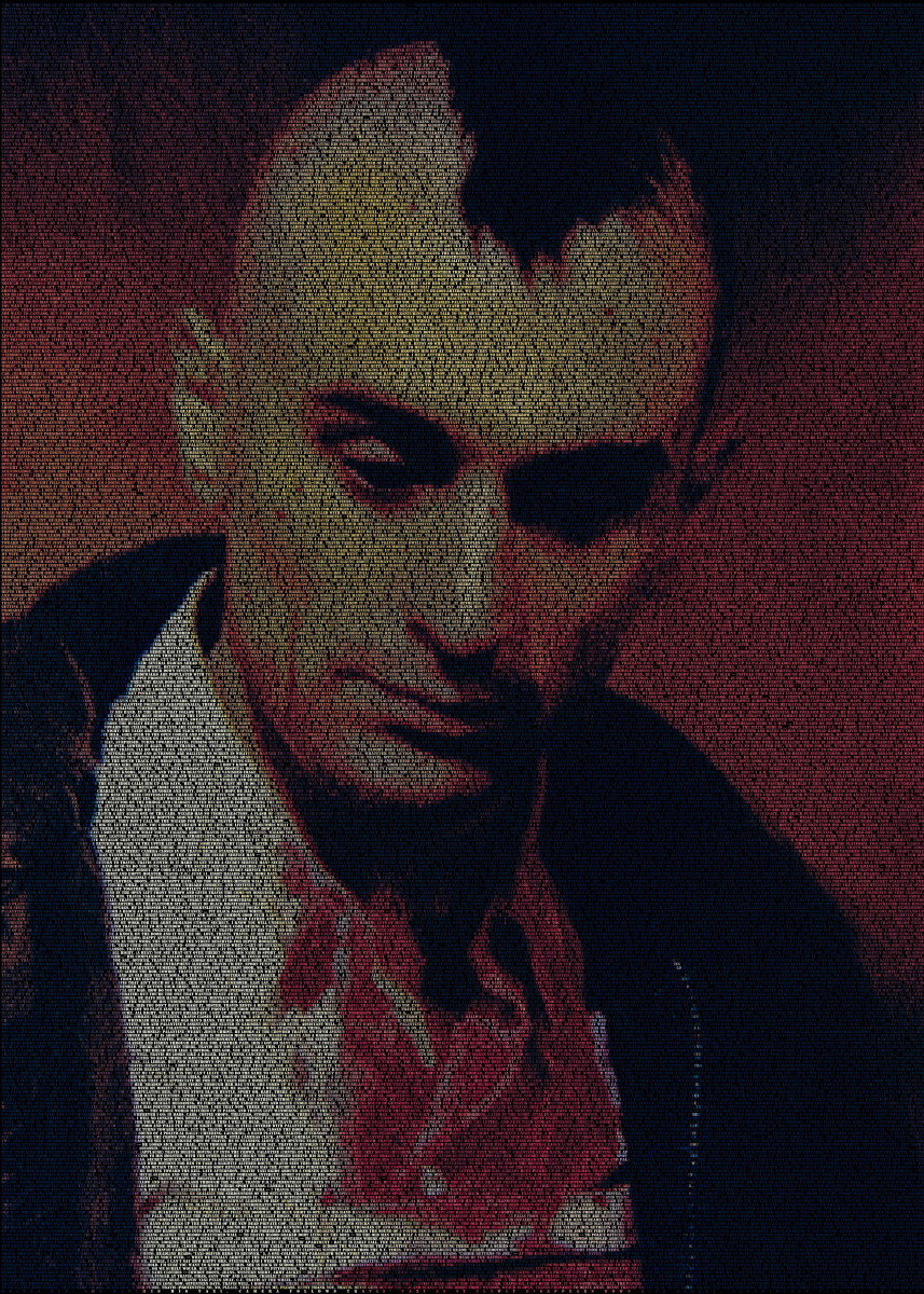 Travis. A typographic portrait of Taxi Driver's Travis Bickle (Rober 219381