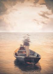 man sea surrealism