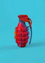 grenade color 3d
