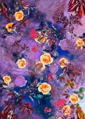 flora flower paint roses rose purple decor flowers