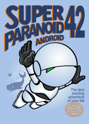 hitchickers 42 marvin paranoid android mario mario3 mariobros robot hitchhikers guide