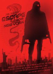 kurt russell ny movie film retro silhouette new york print snake cinema