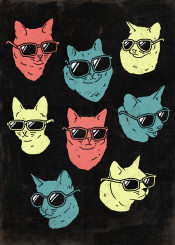 cat cats kitty kitties art vintage kids lady cool colorful colors animals hipster black dark popular gift for lover lovers