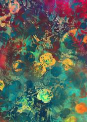 floral flower flwoers garden nature vintage art pattern