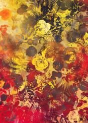 flower flowers flora floral yellow pattern art decoration nature vintage garden