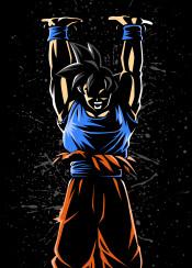 anime dragon manga ball genkidama power force hero god monkey black super attack universal