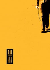no country old men movie tv western choen brothers yellow minimal grunge comic illustration poster design