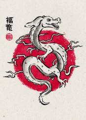 the neverending story falkor dragon japan japanese art painting