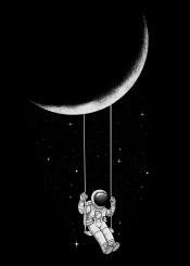 astronaut moon humor space fantasy