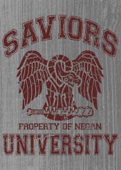 saviors negan university vintage zombie apocalypse lucille bat walking
