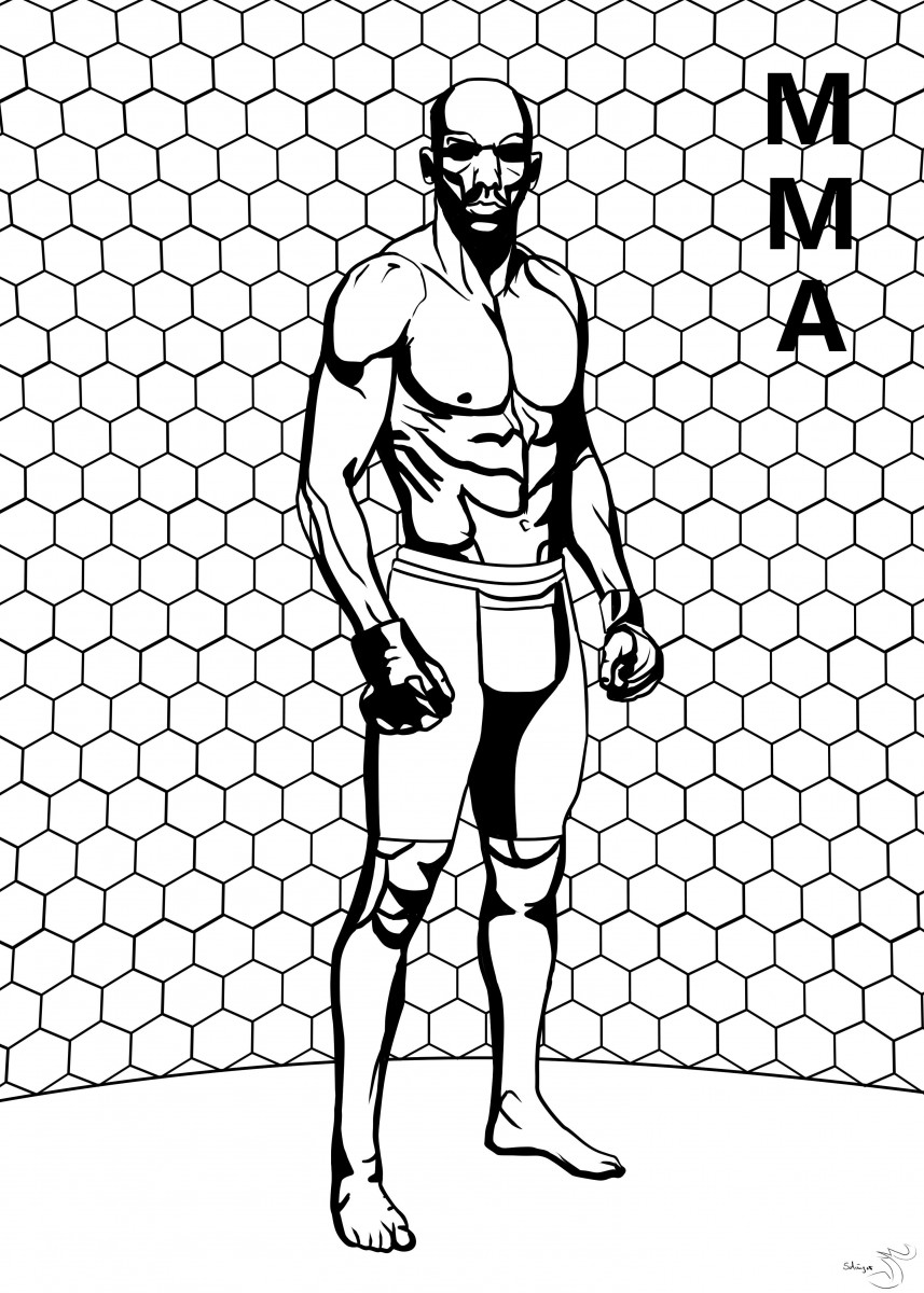 MMA - The Fighter. Third of my sport series.