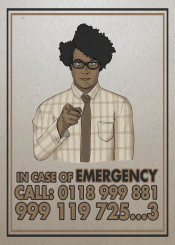 itcrowd it crowd maurice moss emergency unclesam sam uncle propaganda geek funny humor